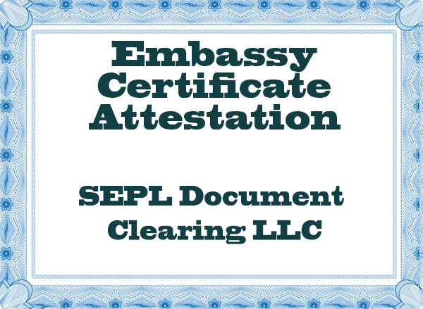 Embassy-Certificate-Attestation